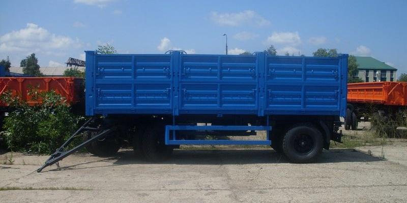 Двухосный прицеп СЗАП-8357-02 для грузового автомобиля