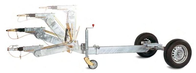 Дышло прицепа с регулируемой высотой сцепного устройства