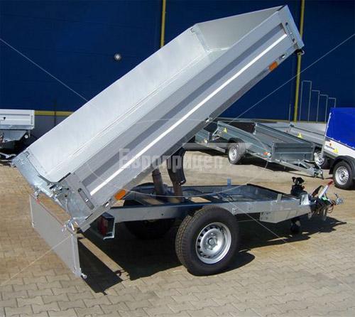 Прицеп самосвальный 7119A4-ATHOS производства Европрицеп с поднятым кузовом